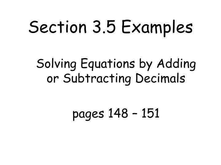 Section 3 5 examples