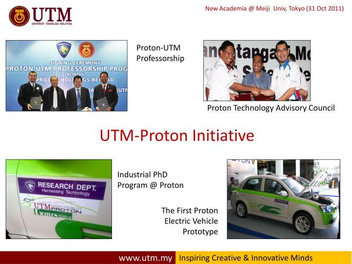 UTM-Proton Initiative