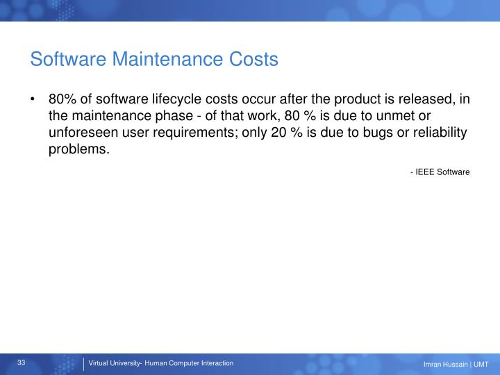 Software Maintenance Costs