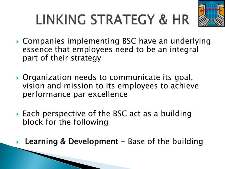 LINKING STRATEGY & HR