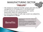 manufacturing sector philips