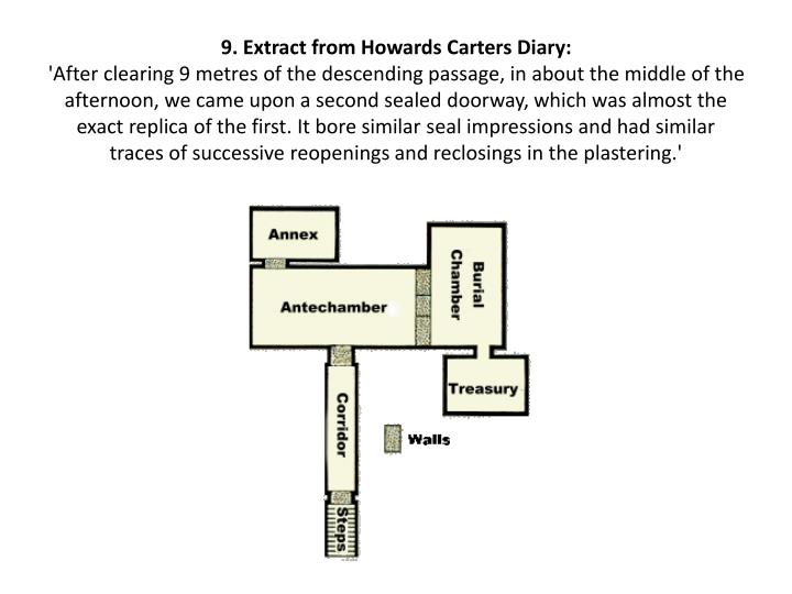 9. Extract from Howards Carters Diary: