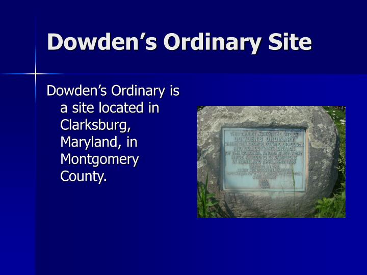 Dowden's Ordinary Site
