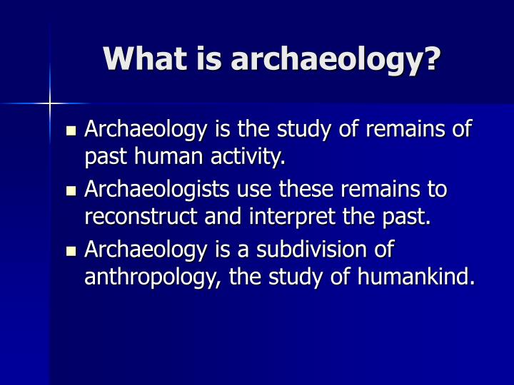 What is archaeology1