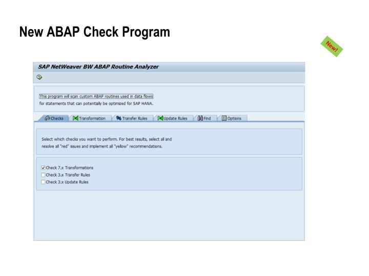 New ABAP Check