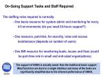 on going support tasks and staff required1
