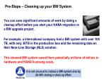 pre steps cleaning up your bw system