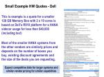 small example hw quotes dell