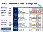 staffing a hana migration project very large team
