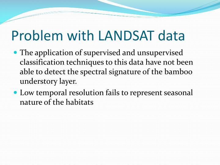 Problem with LANDSAT data