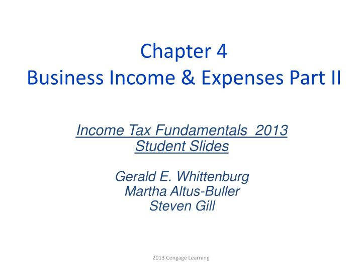 Chapter 4 business income expenses part ii