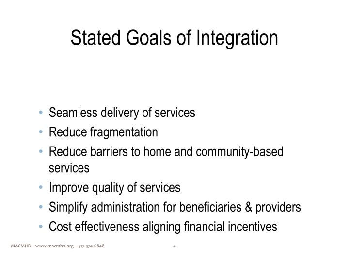 Stated Goals of Integration