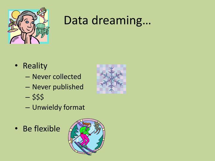 Data dreaming…