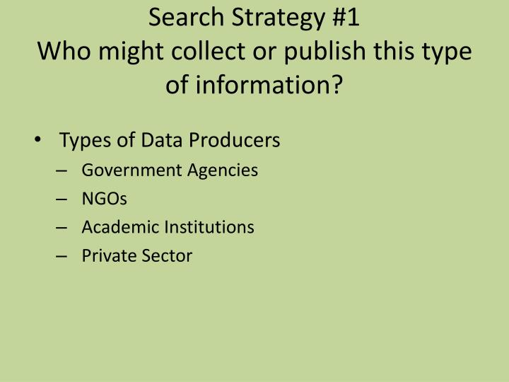 Search Strategy #1