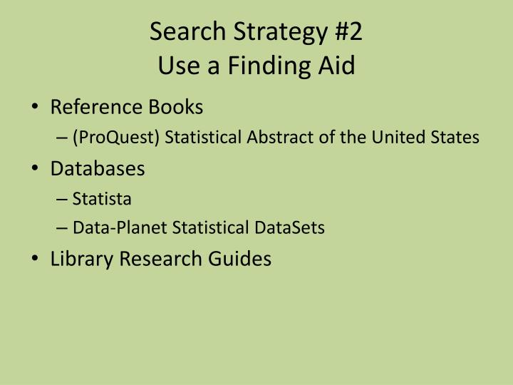 Search Strategy #2