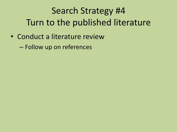 Search Strategy #4