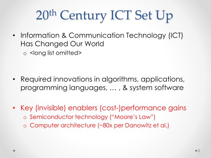 20 th century ict set up