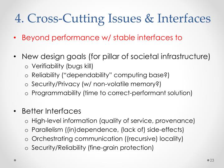 4. Cross-Cutting