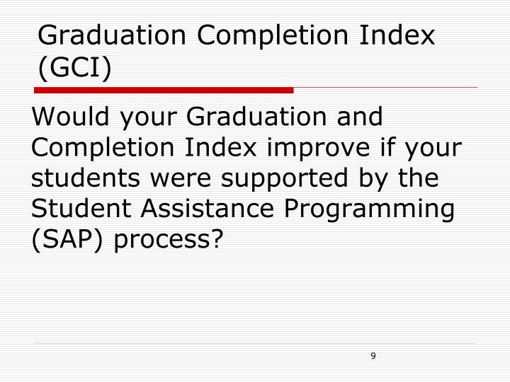 Graduation Completion Index (GCI)