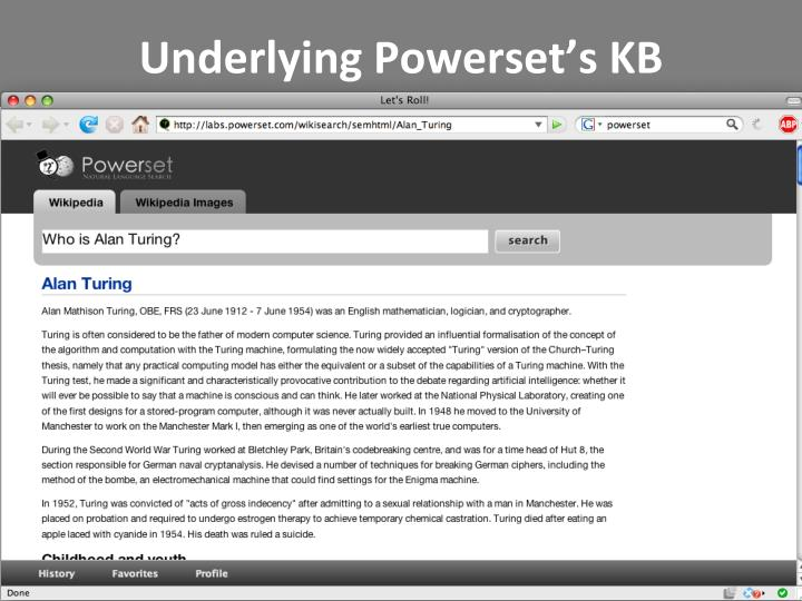 Underlying Powerset's KB