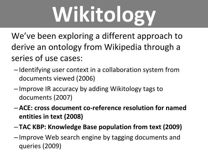 Wikitology