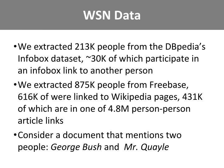 WSN Data