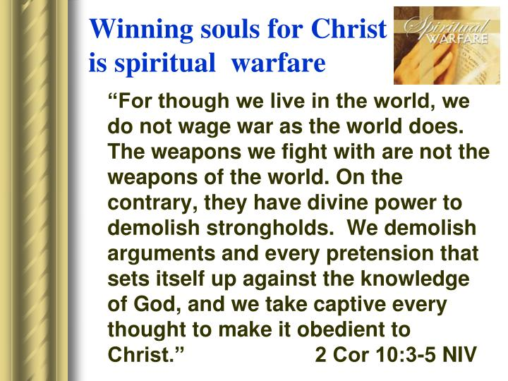 Winning souls for Christ