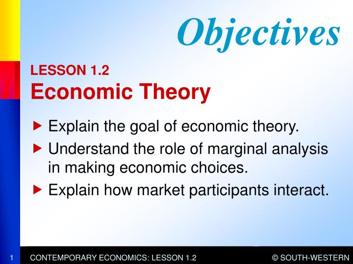 Lesson 1 2 economic theory