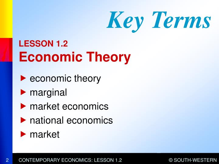 Lesson 1 2 economic theory1