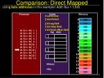 comparison direct mapped