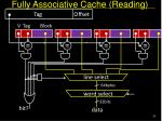 fully associative cache reading