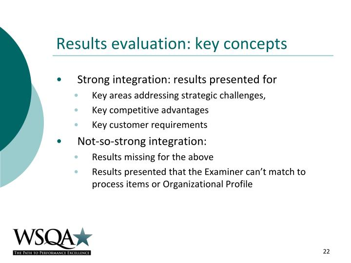Results evaluation: key concepts
