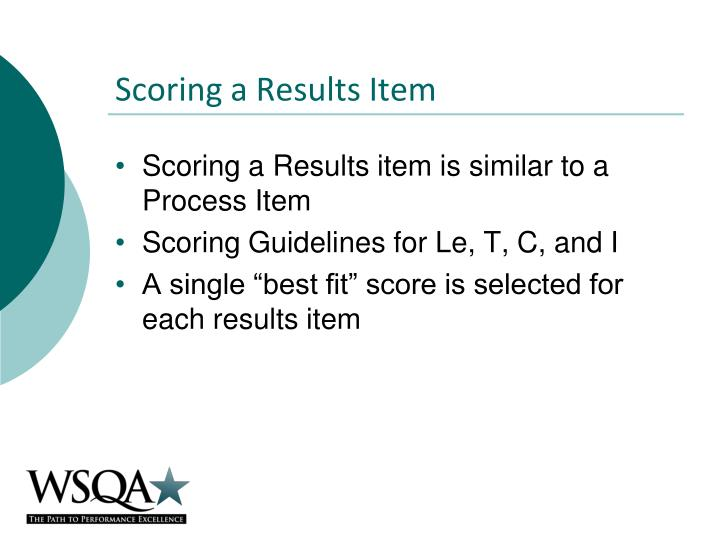 Scoring a Results Item