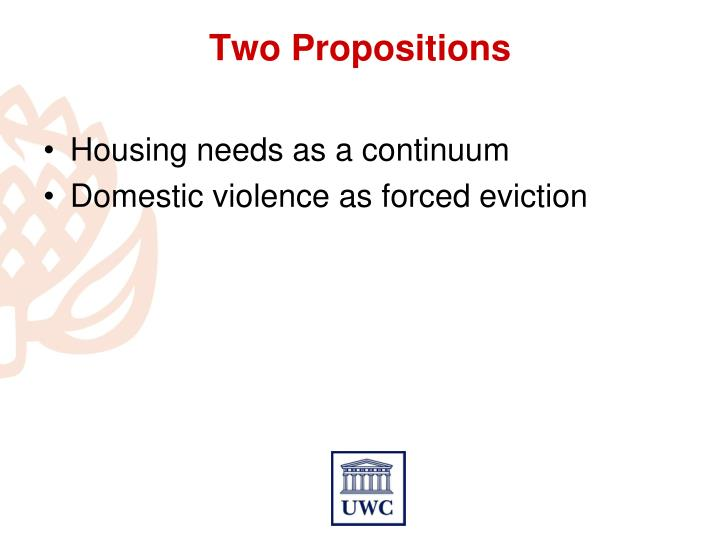 Housing needs as a continuum