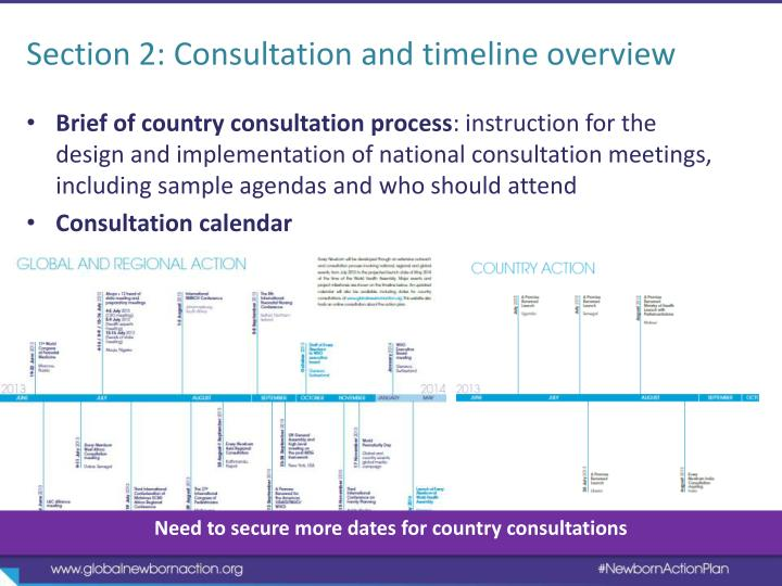 Section 2: Consultation and timeline overview