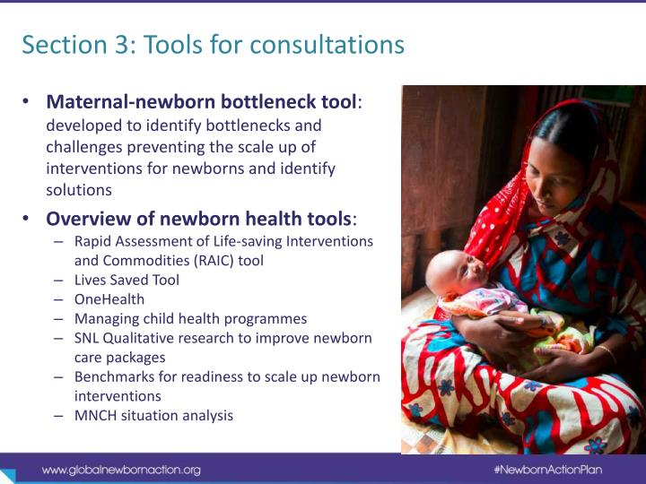 Section 3: Tools for consultations