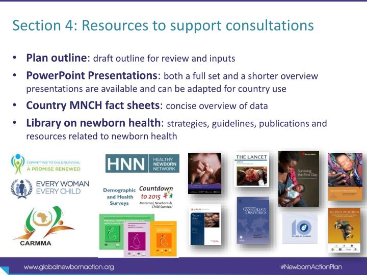 Section 4: Resources to support consultations
