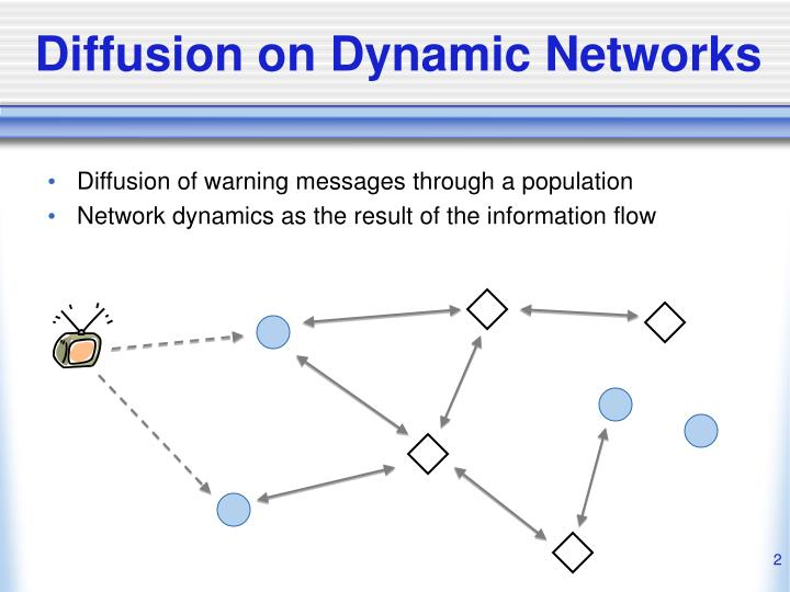 Diffusion on dynamic networks
