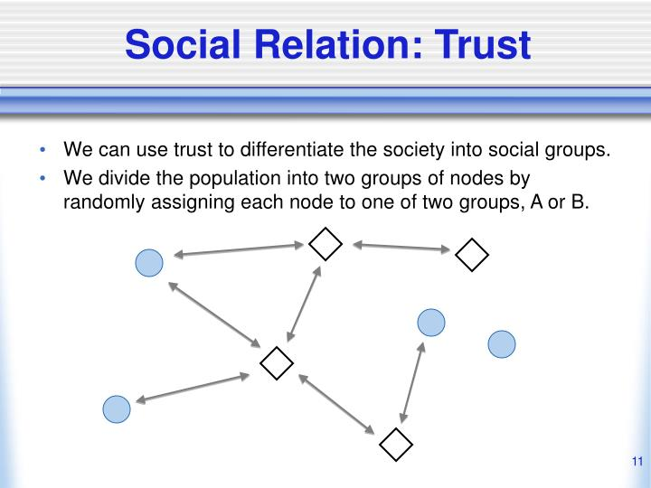 Social Relation: Trust
