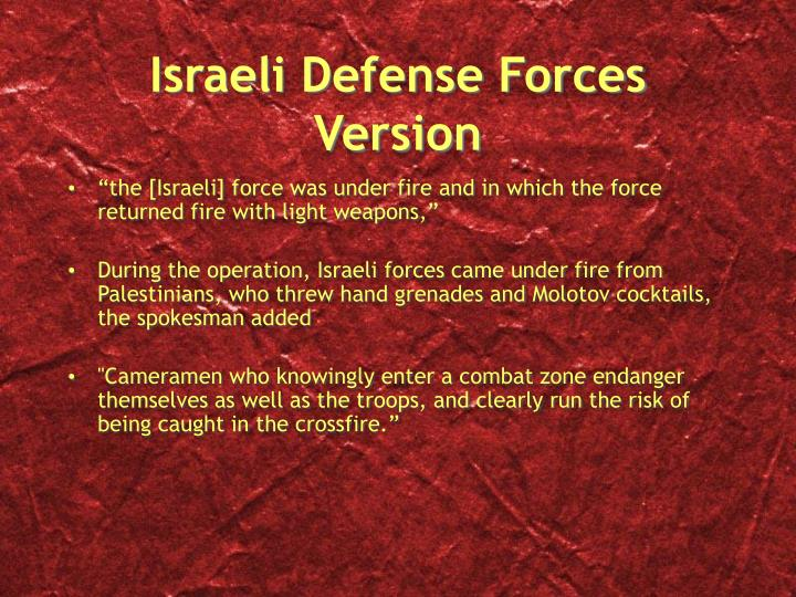 Israeli Defense Forces Version