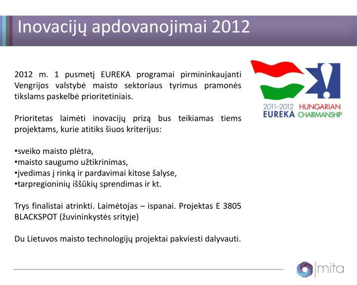 Inovacijų apdovanojimai 2012