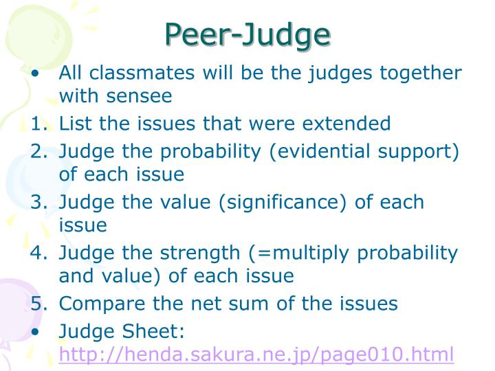 Peer-Judge