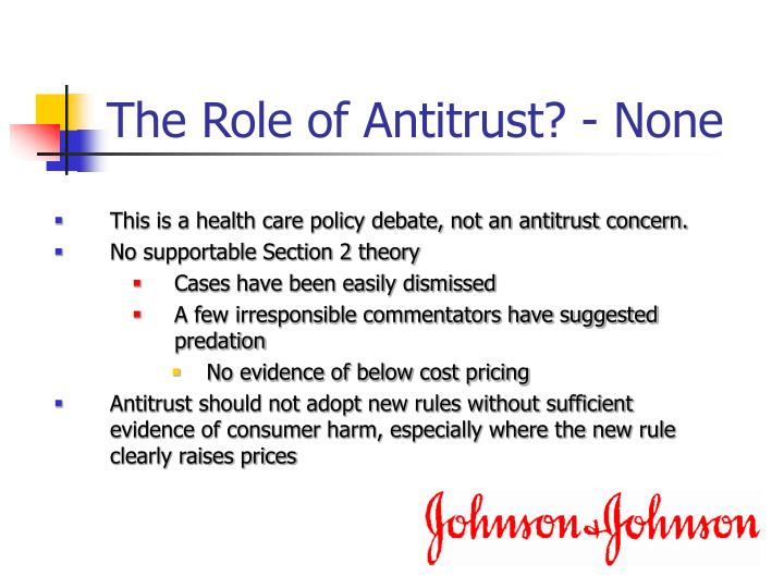 The Role of Antitrust? - None