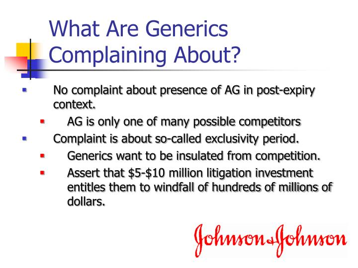 What Are Generics Complaining About?