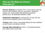 what do we mean by school attendance