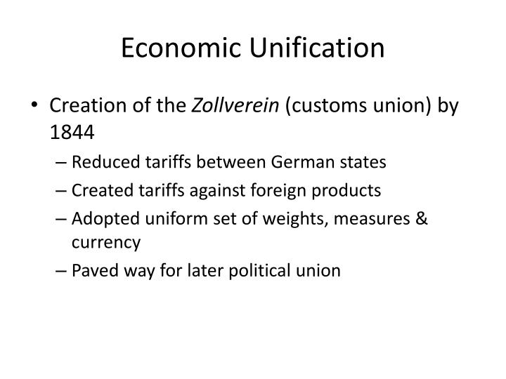 Economic Unification