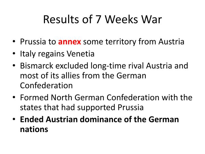 Results of 7 Weeks War