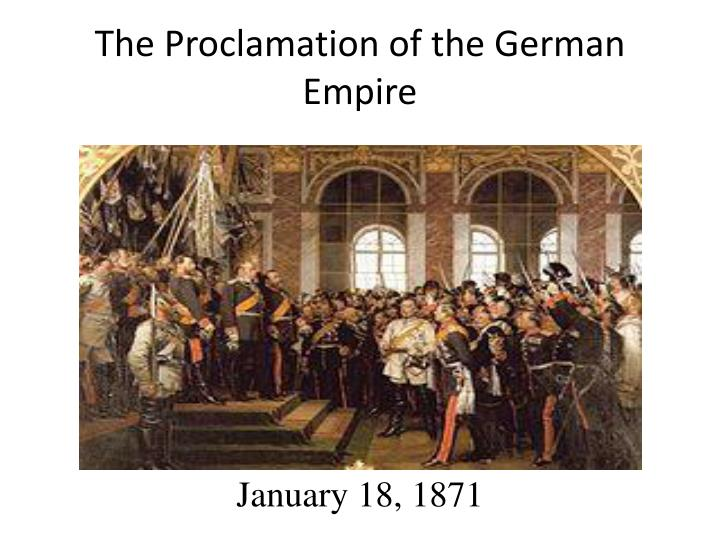 The Proclamation of the German Empire