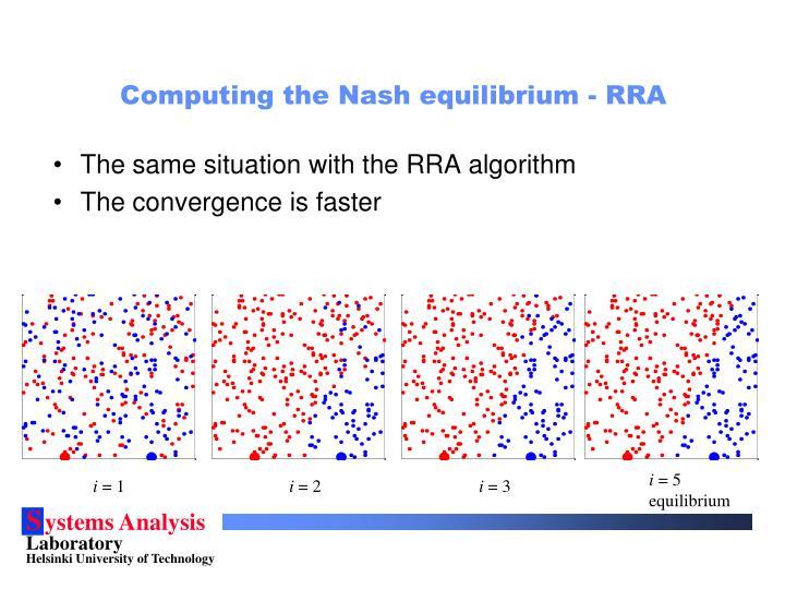 Computing the Nash equilibrium - RRA
