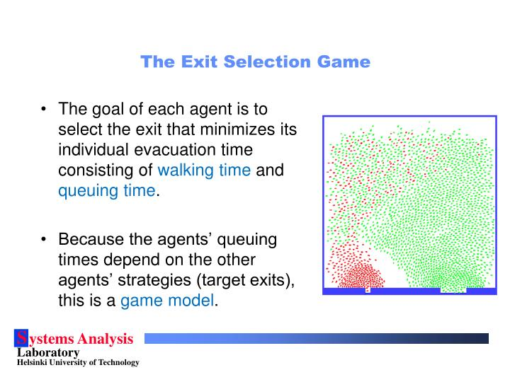 The Exit Selection Game